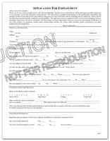 Application for Employment (401C)