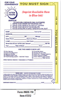 Night Drop Envelopes (#NDE-YH) - Cases (Item 7212)